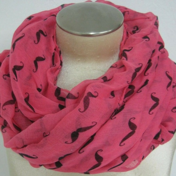 D&Y Accessories - D&Y Infinity Handlebar Mustache Hot Pink Scarf.